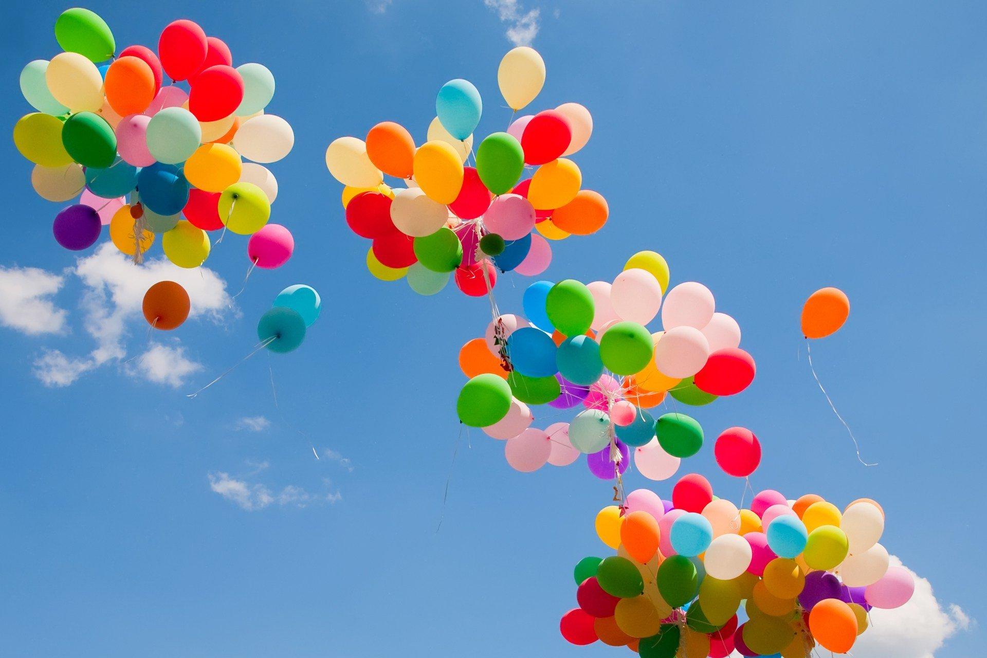 Картинки с цветами и шариками воздушными